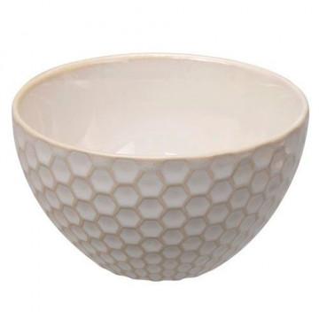 Bol de cerámica Panel de Abeja Crema Textured