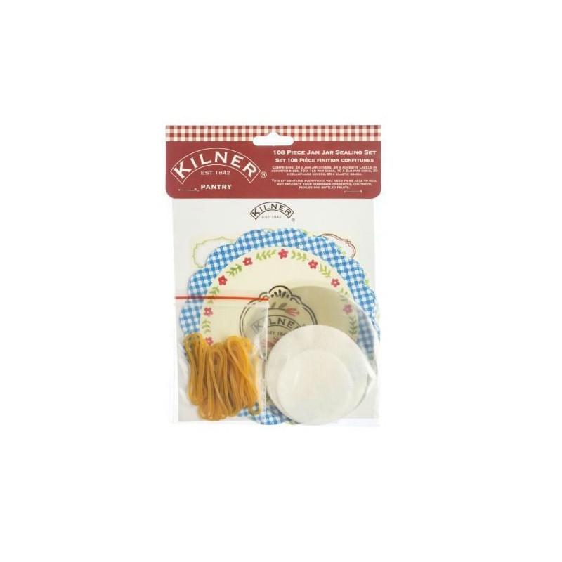 Kit mermelada: etiquetas,etiquetas adhesivas, cubre tapón y cinta Buho Kilner [CLONE]
