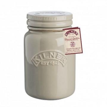 Tarro de cerámica gris tostado Kilner