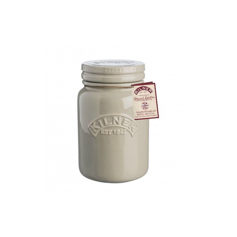 Tarro de cerámica crema Kilner