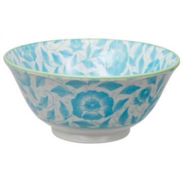 Bol de cerámica flores azul Botanique