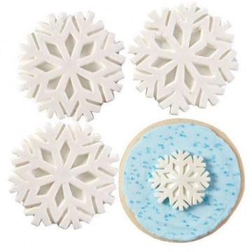 Decoraciones comestibles Copo de nieve Wilton