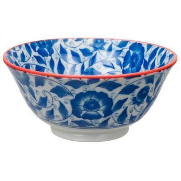Bol de cerámica flores azul marino Botanique