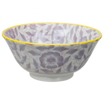 Bol de cerámica flores lavanda Botanique