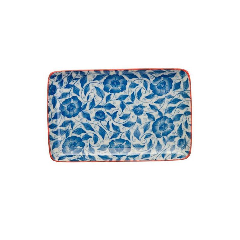 Bandeja de presentación rectangular flores azul Botanique [CLONE] [CLONE]