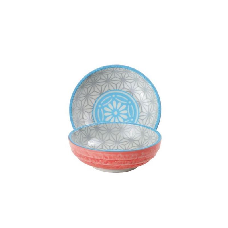 Bol de cerámica mini coral y amarillo Star Wave [CLONE]