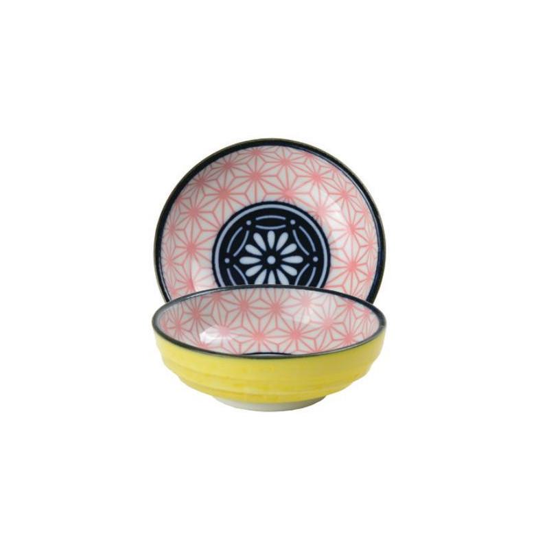 Bol de cerámica mini coral y amarillo Star Wave [CLONE] [CLONE]