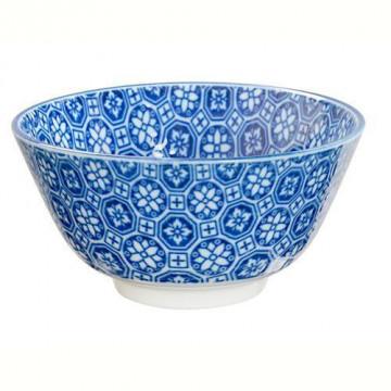 Bol de cerámica Mosaico flores azul Nippon Blue