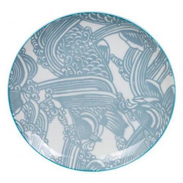 Plato de cerámica gris Shiki