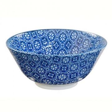 Bol de cerámica mediano mosaico flores Nippon Blue