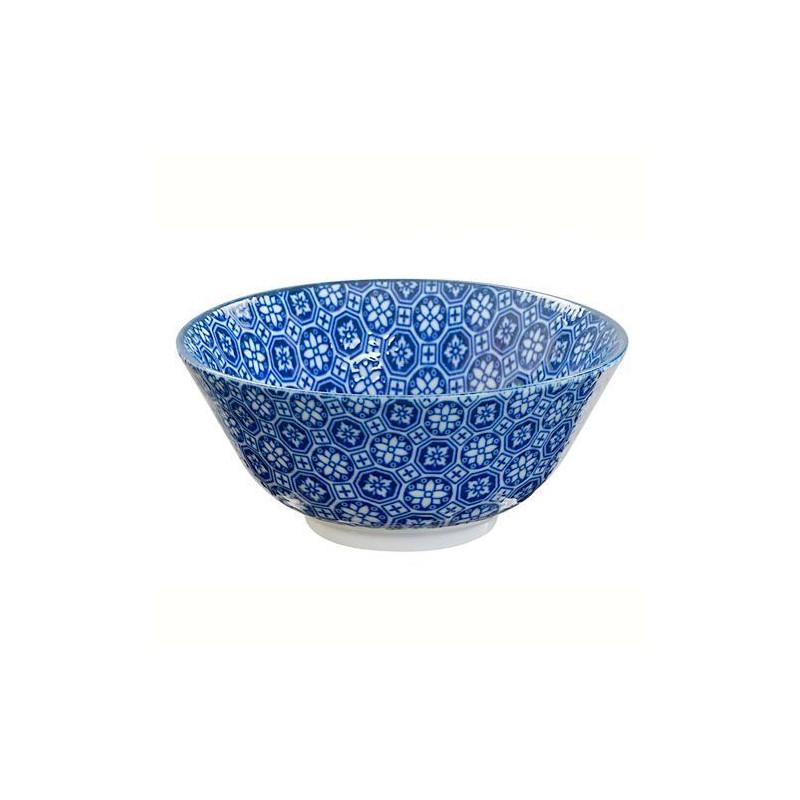 Bol de cerámica grande mosaico flores Nipoon Blue [CLONE]
