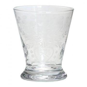 Vaso de cristal labrado con base Green Gate