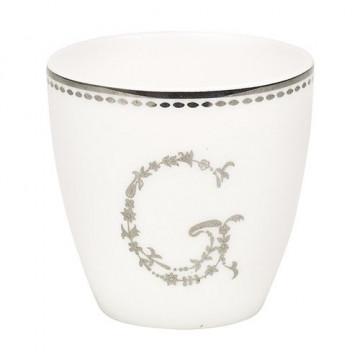 Tazón mini blanco y plata G Green Gate