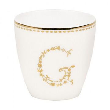 Tazón mini blanco y oro G Green Gate