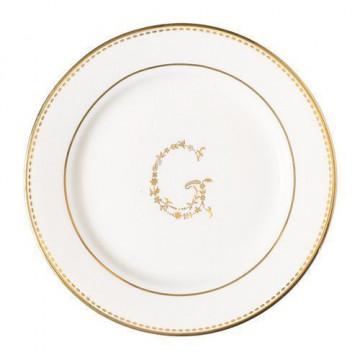Plato de cerámica blanco y oro G Green Gate