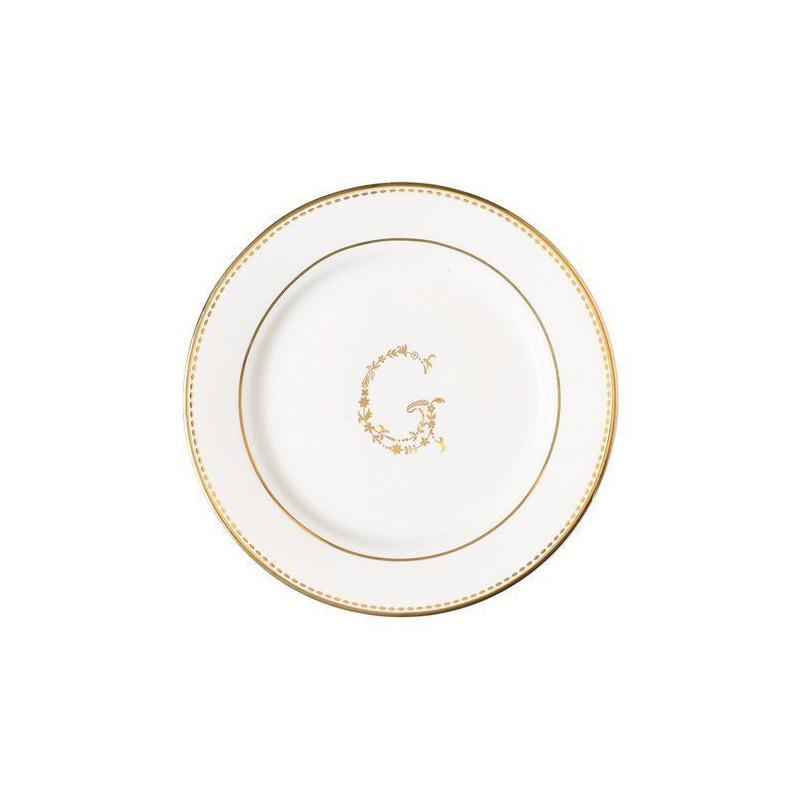 Plato de cerámica blanco y oro G Green Gate [CLONE]