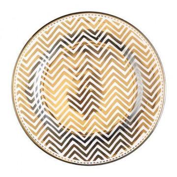 Plato de cerámica chevron plata Green Gate