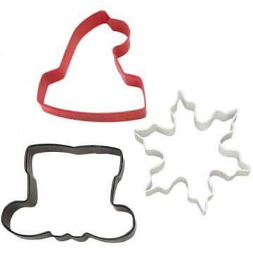 Cortante pack 3 cortantes Santa Claus Navidad Wilton