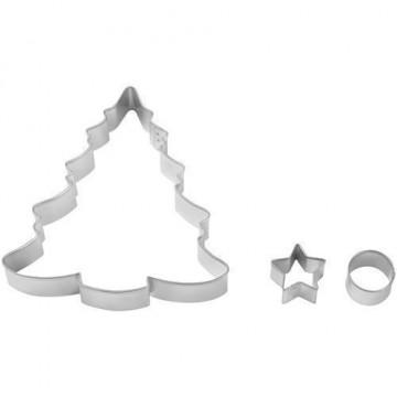 Cortante pack 3 cortantes Árbol de Navidad Wilton