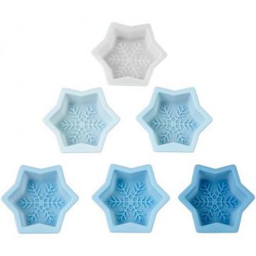Pack de 6 moldes de silicona Copo de Nieve Wilton