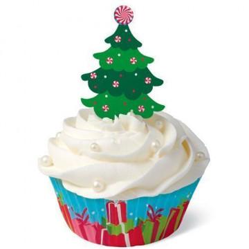 Set para cupcakes: Árbol de Navidad Wilton