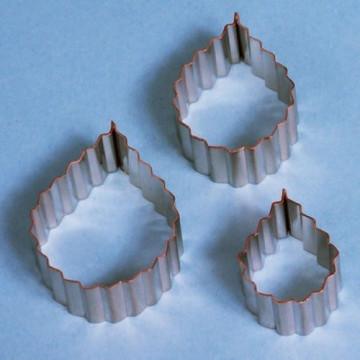 Cortantes pack 3 cortantes de hoja serrada de rosa PME