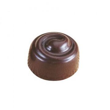 Molde de policarbonato para 28 bombones Redondo Espiral Martellato