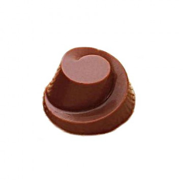 Molde de policarbonato para 24 bombones Espiral 3D Martellato