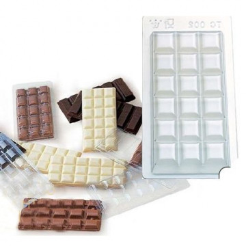 Pack de 5 moldes de tableta de chocolate Martellato
