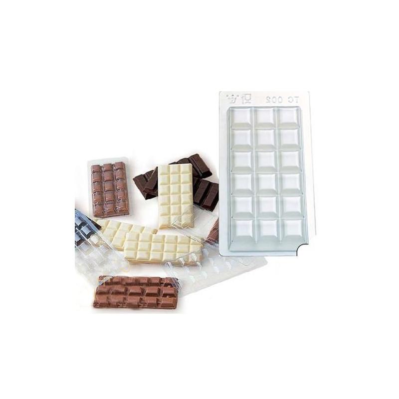 Pack de 5 moldes de tableta barritas chocolate Kinder Bueno Martellato [CLONE]