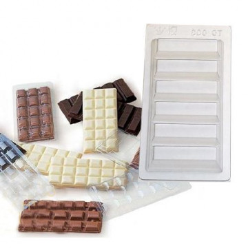 Pack de 5 moldes de tableta de barritas de chocolate Martellato