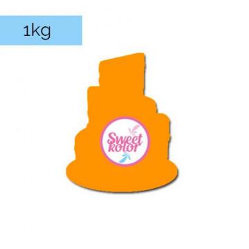 Fondant Naranja 1kg Sweet Kolor