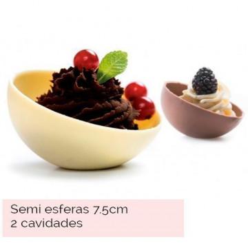 Molde de policarbonato semi esfera 7.5 cm Decora