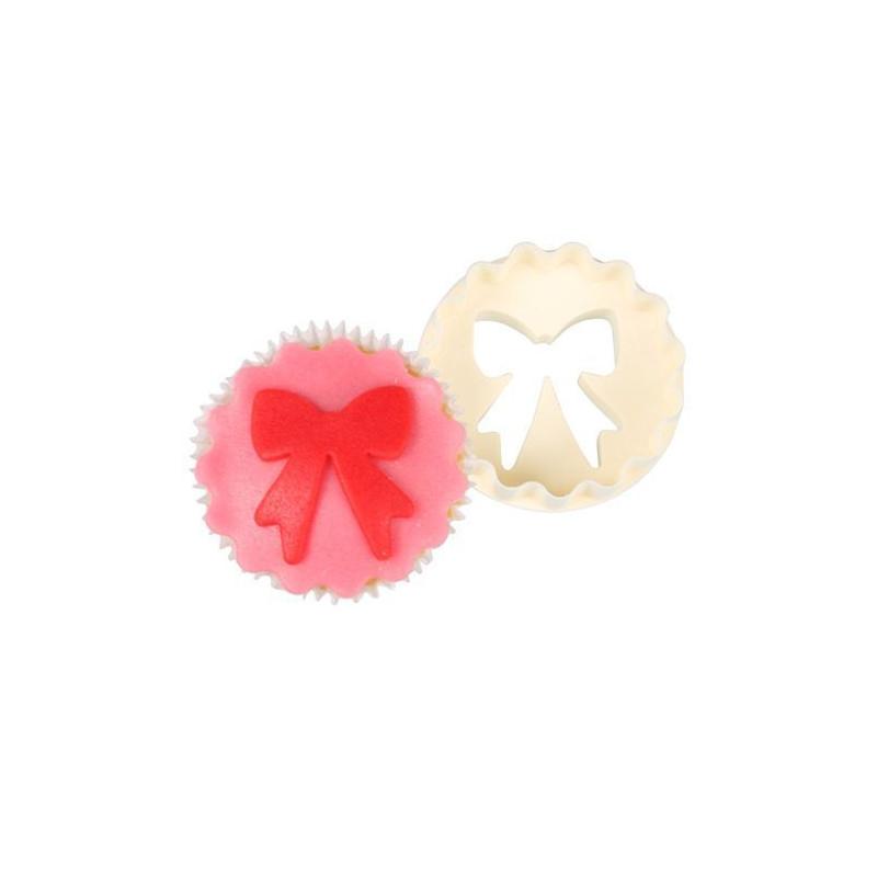 Cortante doble para cupcakes lazo FMM