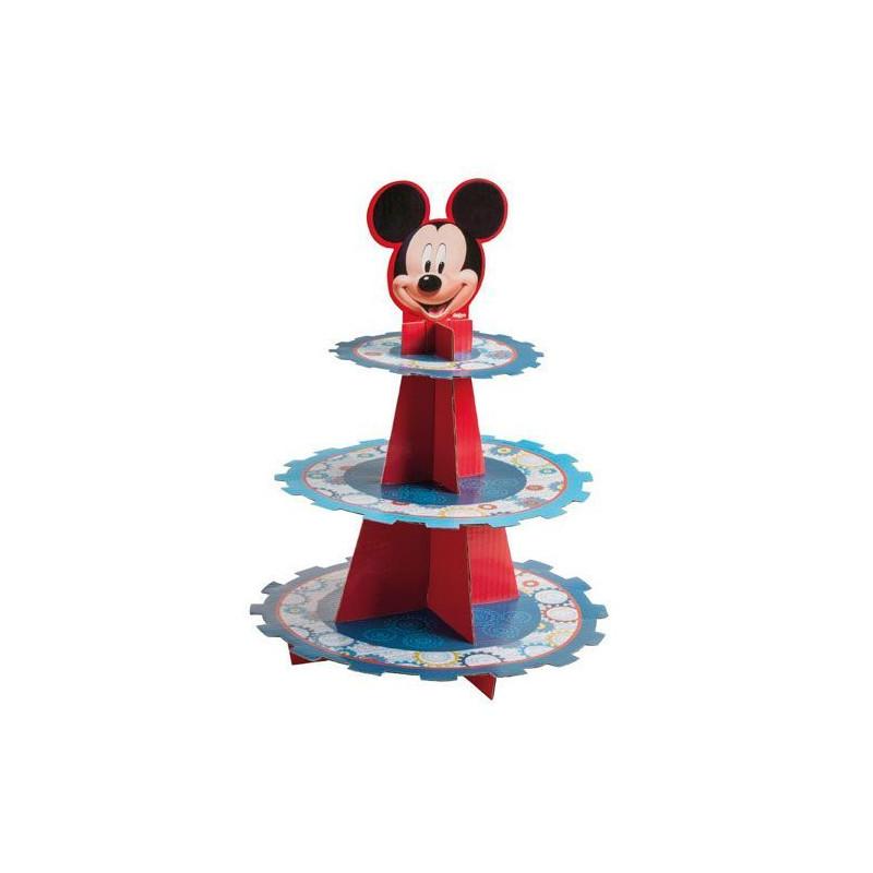 Stand de presentación de cupcakes Mickey