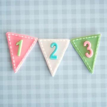 Molde de silicona Banderola Números Katie Sue Design
