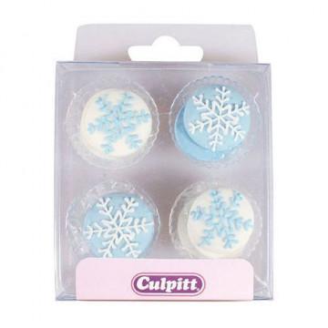 Decoraciones de azúcar con Copos de Nieve Culpitt