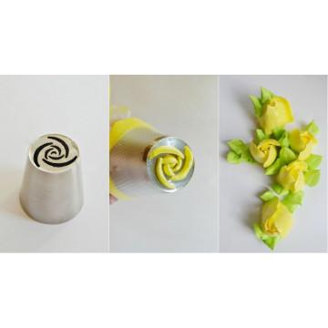 Boquilla Flor Nº14 Rosa 6 pétalos y centro