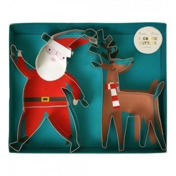 Cortante pack 2 cortantes Papa Noel y Reno Meri Meri