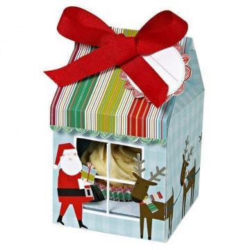 Pack de 4 cajas para 1 cupcake Papa Noel Meri Meri