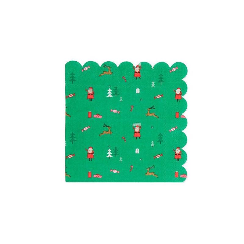 Servilleta de papel Confetti Papa Noel Meri Meri