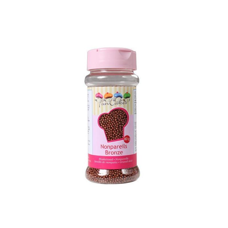 Sprinkles Nonpareils Mini perlitas Rojo Amarillo y Negro Funcakes [CLONE]