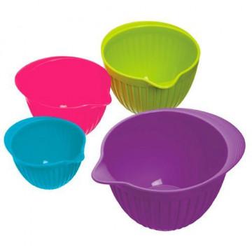 Tazas medidoras de silicona Colores Kitchen Craft