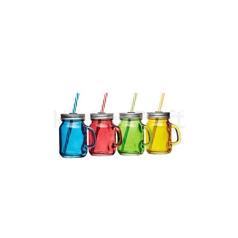 Juego de 4 mini jarras de cristal con asa Kitchen Craft