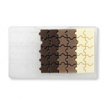 Molde de policarbonato para 32 bombones Puzzle Decora