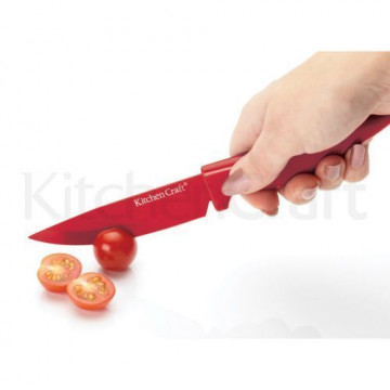 Cuchillo para mondar rojo Kitchen Craft