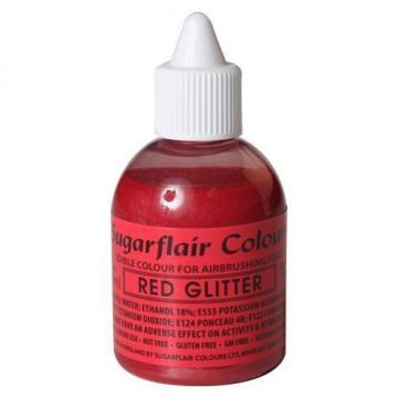Colorante para aerógrafo Rojo Metalizado 60ml Sugarflair