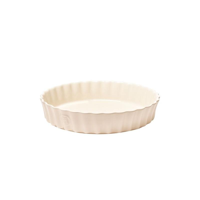 Fuente de cerámica redonda Crema Emile Henry