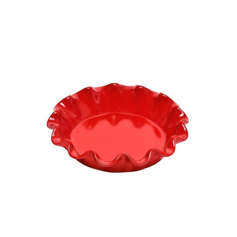 Molde redondo de cerámica ondulado rojo Emile Henry