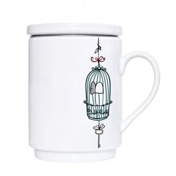 Taza de té Freedom con tapa y filtro We love home